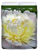 Creamy Petals - Double Peony Duvet Cover