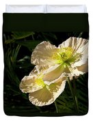 Creamy Poppies Duvet Cover