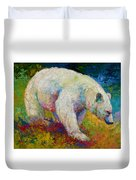 Creamy Vanilla - Kermode Spirit Bear Of Bc Duvet Cover