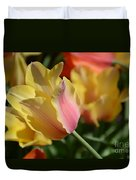 Creamy Yellow Tulip Duvet Cover