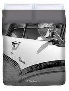 Creative Chrome - 1956 Ford Fairlane Victoria Duvet Cover