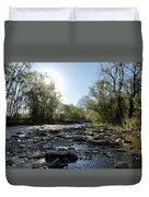 Creek And Bridge Duvet Cover