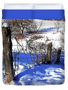 Creek Fenceline Duvet Cover