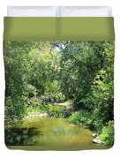 Creek In A Forest Duvet Cover
