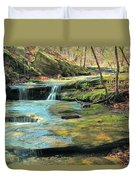 Creek In Dappled Light At Don Robinson State Park 1 Duvet Cover