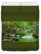 Creek In Great Smoky Mountains National Duvet Cover