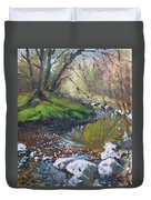 Creek In The Woods Duvet Cover by Ylli Haruni