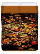 Creek Leaves Duvet Cover