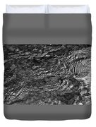 Creek Ripples B And W Duvet Cover
