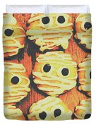 Creepy And Kooky Mummified Cookies  Duvet Cover