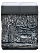 Creepy Cabin In The Woods Duvet Cover