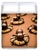Creepy Crawly Spider Bites. Halloween Food Duvet Cover