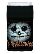 Creepy Halloween Pumpkin Duvet Cover