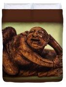 Creepy Things On The Mantel 4 Duvet Cover