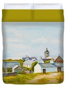 Cregneash And St Peters Church Duvet Cover