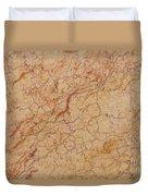 Crema Valencia Granite Duvet Cover