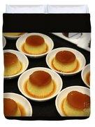 Creme Caramel Dessert Duvet Cover