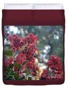 Crepe Myrtle Tree Blossoms Duvet Cover