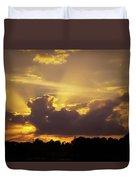 Crepuscular Rays Of Sunlight Duvet Cover