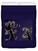 Crescent And Palms Duvet Cover