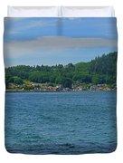 Crescent Beach Center Panoramic Duvet Cover