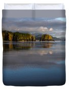 Crescent Beach Reflections Duvet Cover