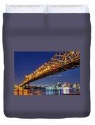 Crescent City Bridge, New Orleans, Version 2 Duvet Cover