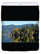 Crescent Lake Fall Colors Duvet Cover
