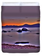 Crescent Moon Above Tahoe Duvet Cover