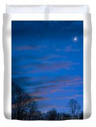 Crescent Moon At Sundown Duvet Cover