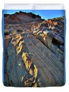 Crest Of Sandstone Wave At Sunset In Valley Of Fire Duvet Cover