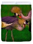 Crested Cranes Duvet Cover