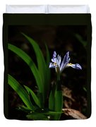 Crested Iris In Lost Valley Duvet Cover