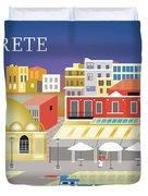 Crete Greece Horizontal Scene Duvet Cover