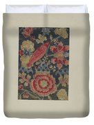 Crewel Embroidered Panel Duvet Cover