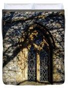 Cricket St Thomas Church Window Duvet Cover