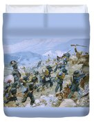Crimean War And The Battle Of Chernaya Duvet Cover by Italian School