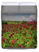 Crimson Clover Patch Duvet Cover