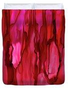 Crimson Forest Duvet Cover