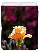 Crimson Gold Lavender Duvet Cover
