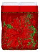 Crimson Hibiscus Duvet Cover