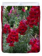 Crimson Snapdragons Duvet Cover