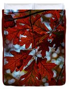 Crimson Oak Duvet Cover