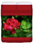 Crimson Red Rose By Kaye Menner Duvet Cover