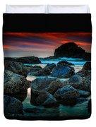 Crimson Skies Duvet Cover