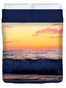 Crimson Wave Art Duvet Cover