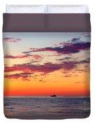 Crimson Yachting  Duvet Cover