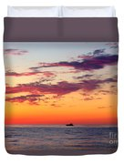 Crimson Yachting  Duvet Cover