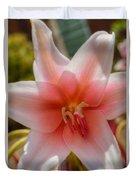 Crinum Lilies Duvet Cover