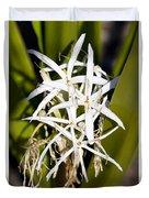 Crinum Spiderlily Flower Duvet Cover